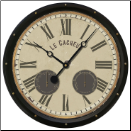 Cacheur Wall Clock- Trademark Time Co (SKU: TTC-CAL17)