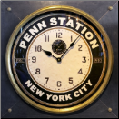 Pen Station Square Clock