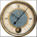 Caffe Venezia Azure Clock-Available June 2020 (SKU: TTC-HVB16IP)