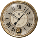 Hotel De La Reine Gray Clock-Trademark Time Co (SKU: TTC-HRG16IP)