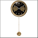 Chronograph Black Long Pendulum Clock (SKU: TTC-CHB16XLP)