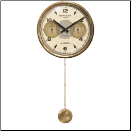 Chronograph Cream Long Pendulum Clock (SKU: TTC-CHC16XLP)