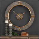 Alphonzo Wood Wall Clock Available Nov 20th (SKU: UTM-06097)
