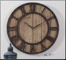 Powell Wooden Clock Uttermost (SKU: UTM-06344)