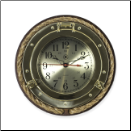 Brass and Rope Porthole Wall Clock (SKU: BBSQ501)