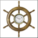 Nautical Brass Oak Ships Wheel (SKU: BBSQ514)