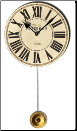 Des Voges Cream Clock Pendulum