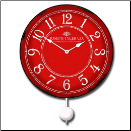 Balton Red Clock Pendulum (SKU: JTCP-BOLRE)