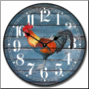 French Rooster Barnwood Wall Clock (SKU: JTC-FBWROS)
