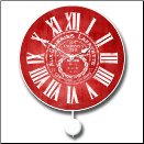 Galleria Red Pendulum Clock
