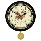 French Rooster Clock Pendulum (SKU: JTC-FROSPEN)