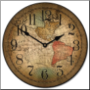 Louis de Vencenzo Map Clock