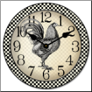 Rooster Clocks Kitchen