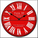 Pier 39 Red Wall Clock