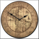 16th Century Tan Map Clock (SKU: JTC-MCTAN2)