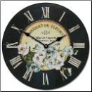 French Pansies Clock (SKU: JTC-FPC)