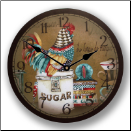 Colorful Rooster Clock (SKU: JTC-JLSRC)