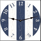 Blue N White Stripe Clock (SKU: MDC-BLUSTRP)