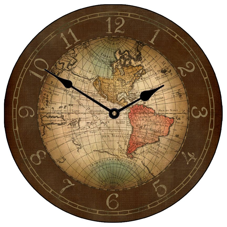 Map wall clock old world old world map clock 17th century gumiabroncs Image collections