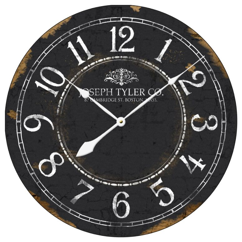 Large Black And White Clock