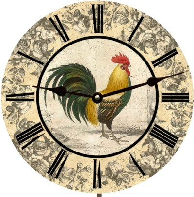 Rooster Kitchen Clock On Sale