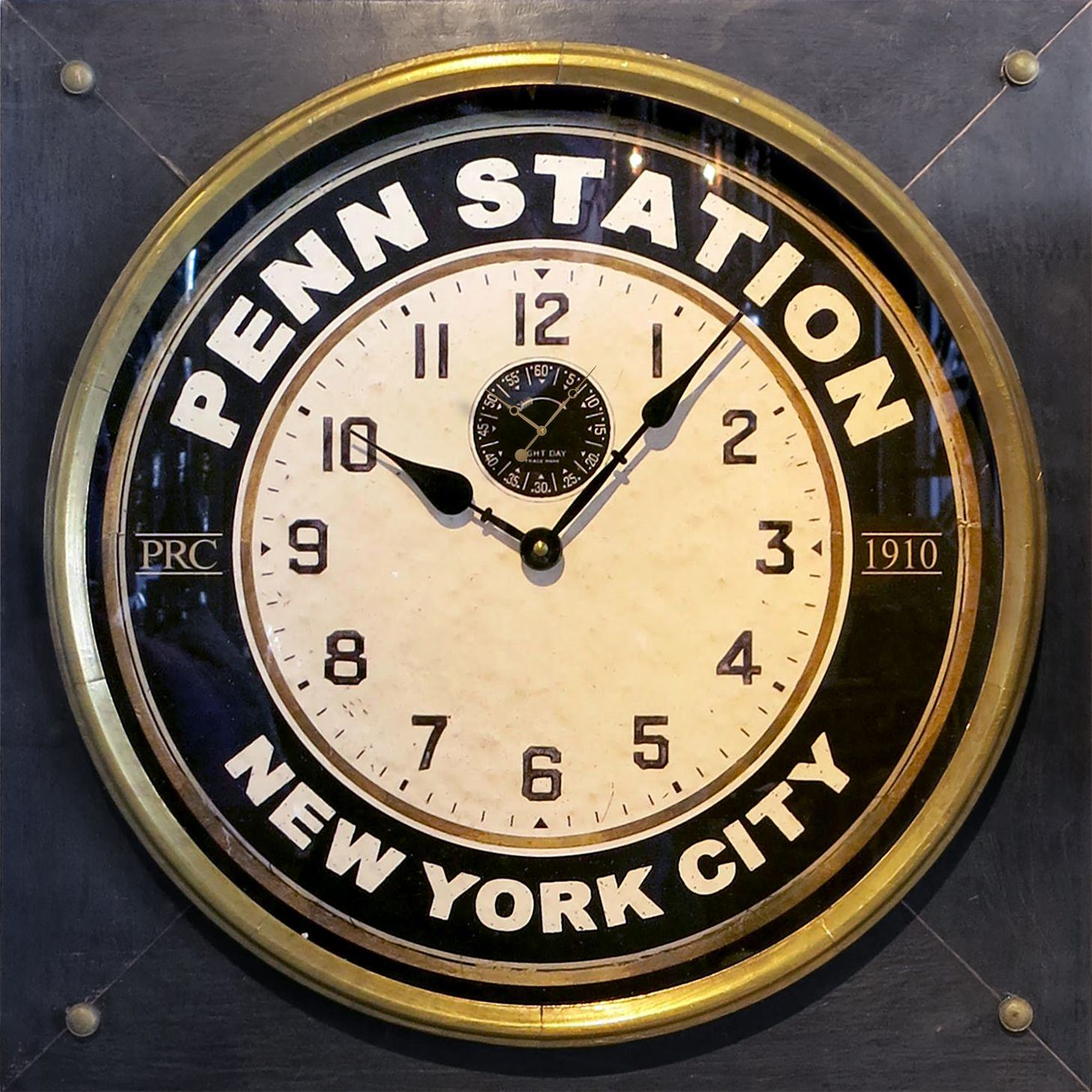 Pen Station Wall Clock Square Trademark Time
